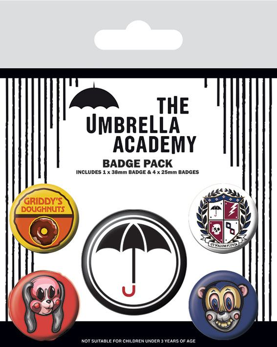 The Umbrella Academy Pin Badges 5-Pack Super