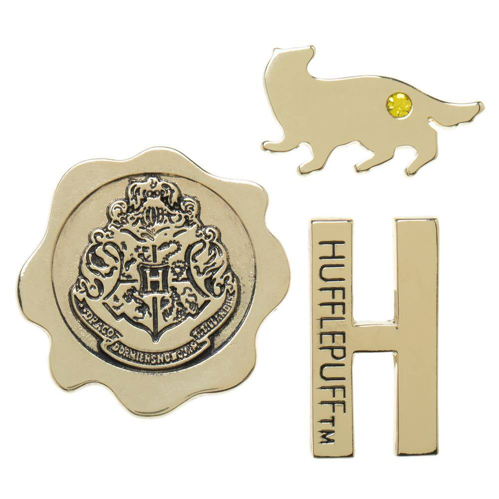 Harry Potter Hufflepuff Lapel Pin Set 3-Pack