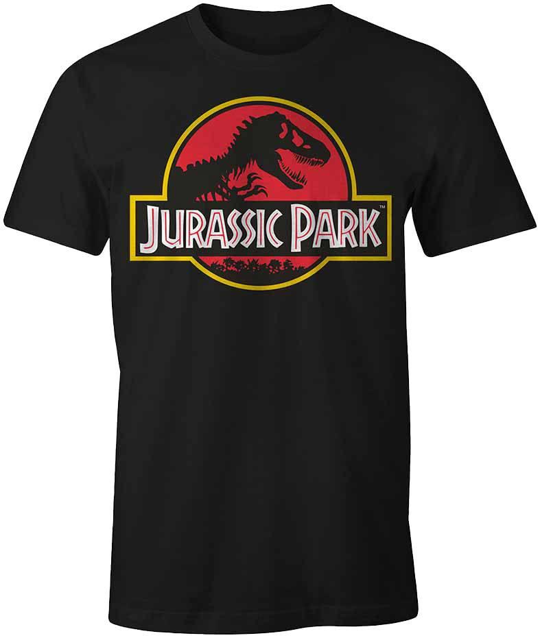 Jurassic Park T-Shirt Classic Logo  Size L