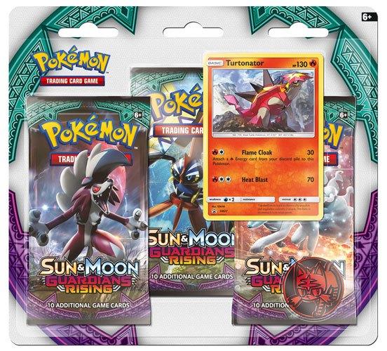 Pokemon Sun and Moon 2 Guardians Rising 3 Pack Blister Display (24) *English Version*