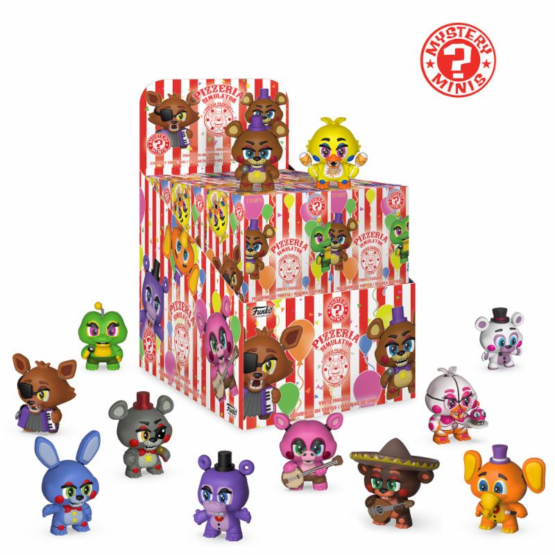 Five Nights at Freddy's Pizza Simulator Mystery Minis Vinyl Mini Figures 6 cm Display (12)