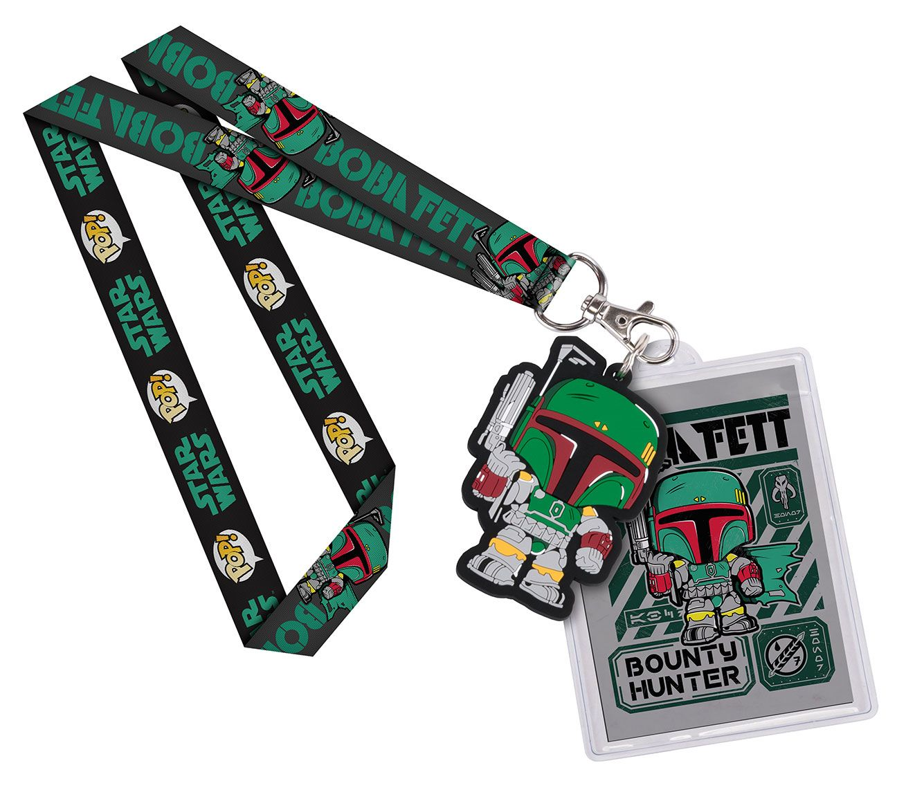 Star Wars POP! Lanyard with Rubber Keychain Boba Fett & Backer Card
