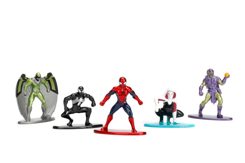 Marvel Comics Nano Metalfigs Diecast Mini Figures 5-Pack Spider-Man 4 cm