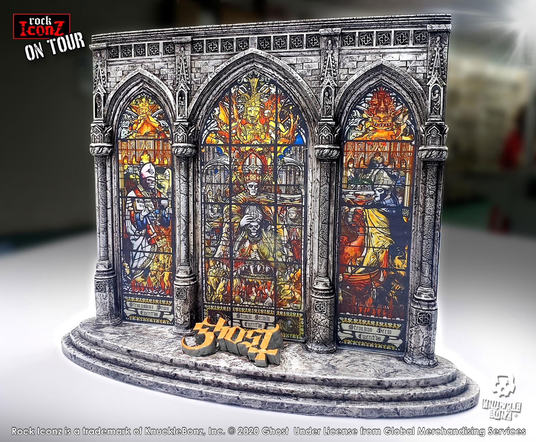 Ghost Rock Iconz On Tour Series Collectible Statue / Diorama Stage Limited Edition 29 x 35 cm