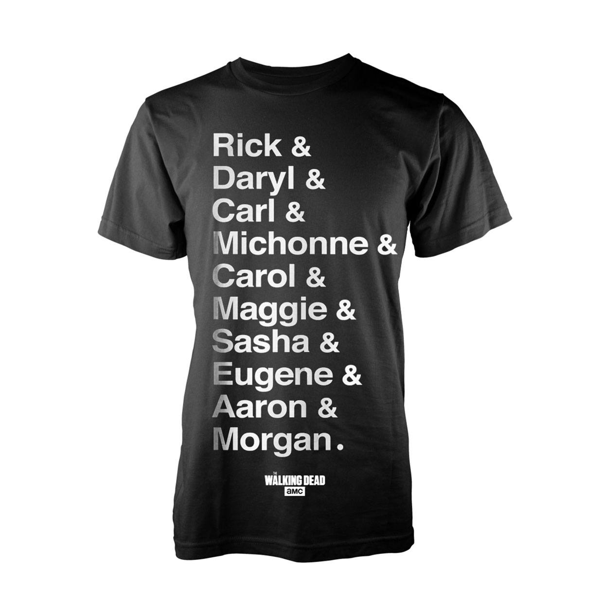 Walking Dead T-Shirt Names Size M