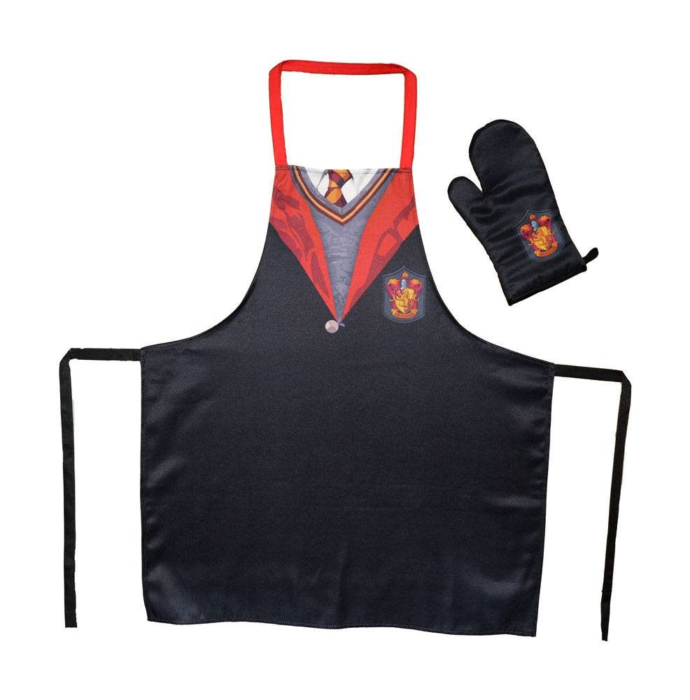 Harry Potter cooking apron with oven mitt Gryffindor School Uniform