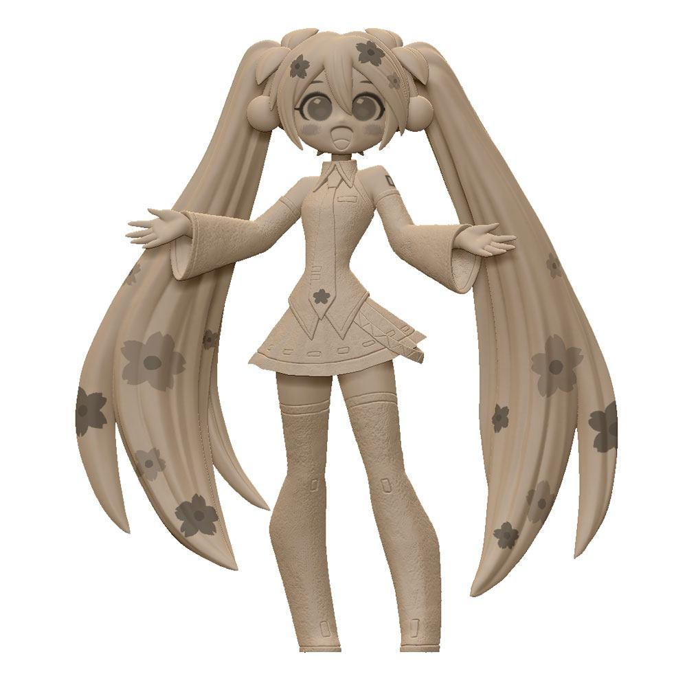 Vocaloid PVC Statue Sakura Miku CartoonY 16 cm