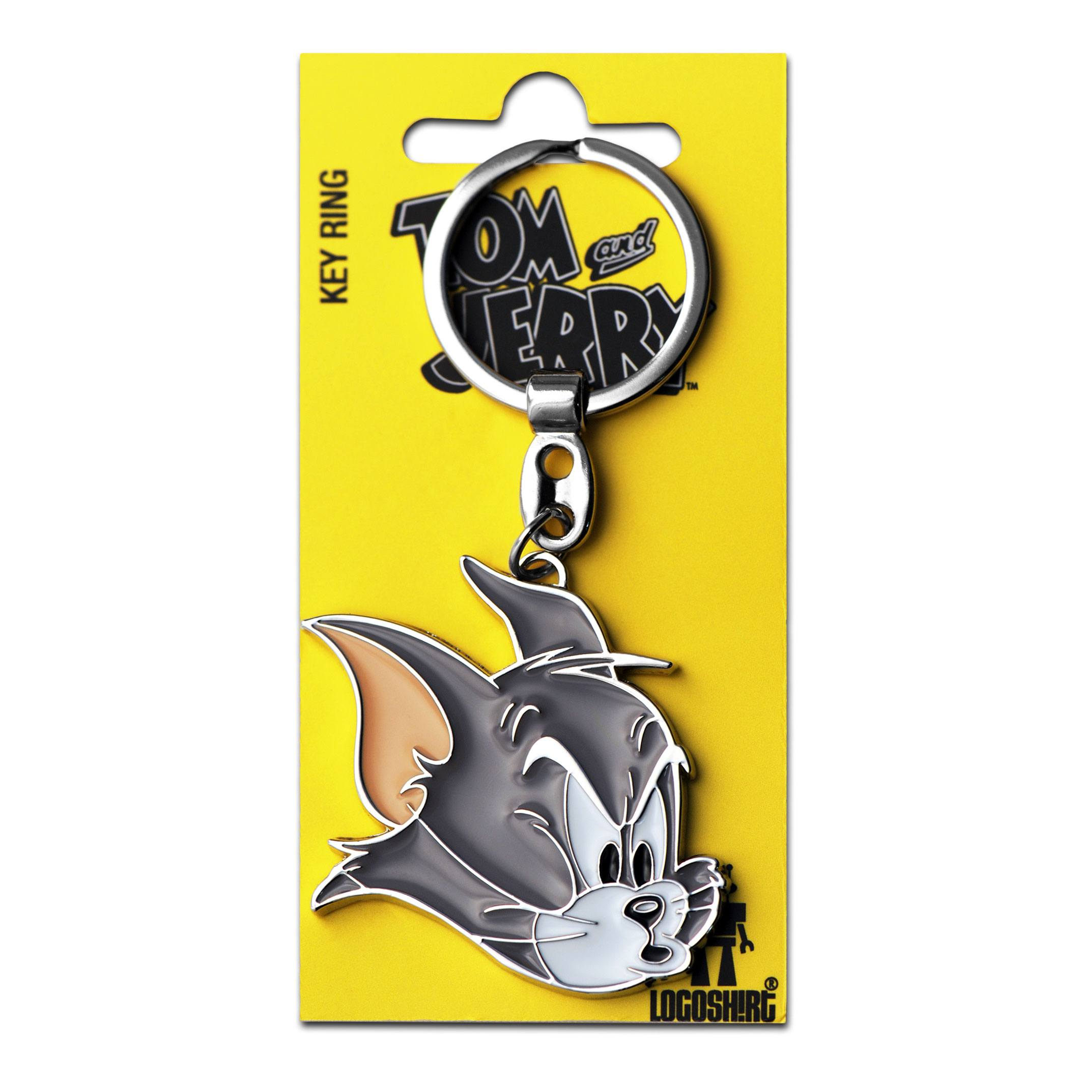 Tom & Jerry Metal Keychain Tom