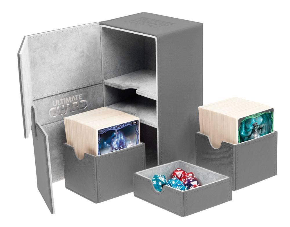 Ultimate Guard Twin Flip´n´Tray  Deck Case 160+ Standard Size XenoSkin Grey
