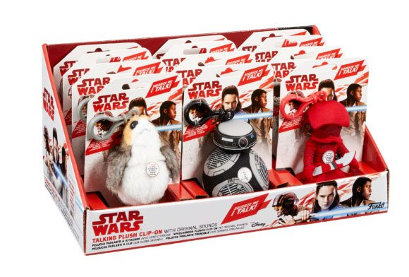 Star Wars Episode VIII Clip-On Talking Plush Figures 10 cm Display (12)
