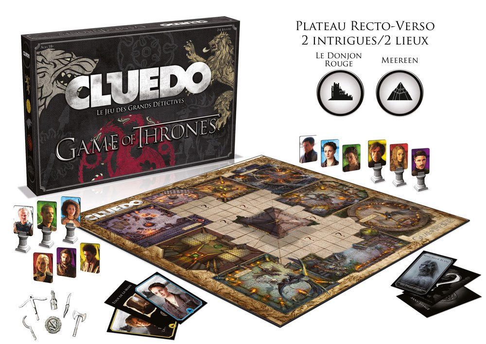 Game of Thrones Board Game Cluedo *French Version* --- DAMAGED PACKAGING
