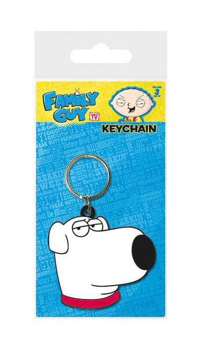 Family Guy Rubber Keychain Brian Face 6 cm