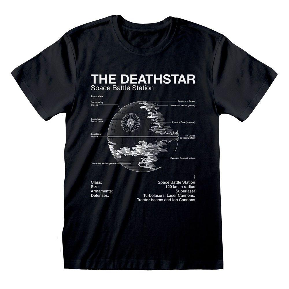 Star Wars T-Shirt Death Star Sketch Size XL