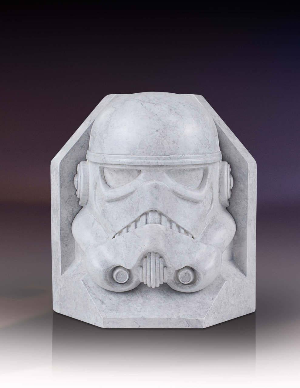 Star Wars Stonework Faux Marble Bookend Stormtrooper 18 cm