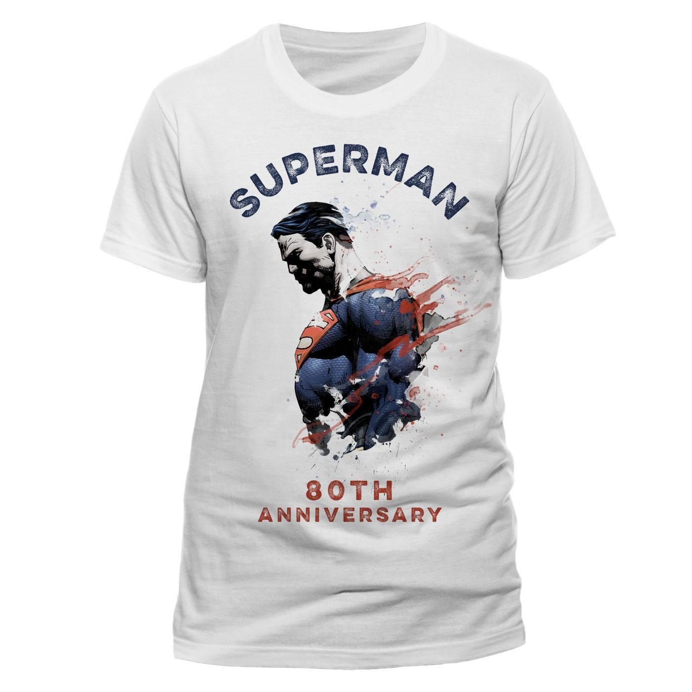Superman T-Shirt 80th Anniversary Size L