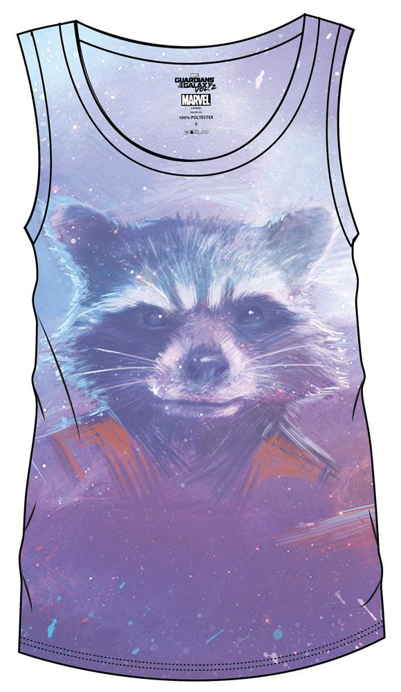 Guardians of the Galaxy Vol. 2 Sublimation Girlie Tank Top Rocket  Size S
