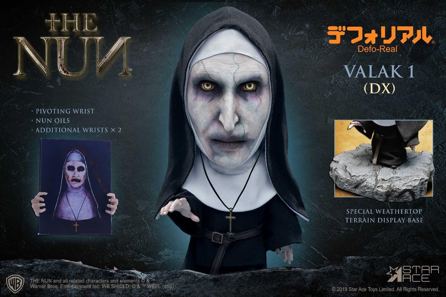The Nun Defo-Real Series Soft Vinyl Figure Valak Deluxe Version 15 cm