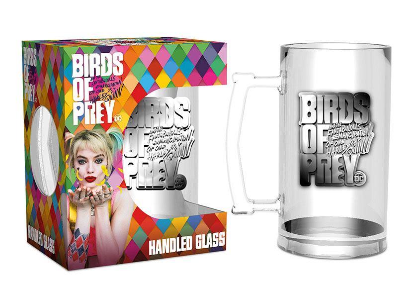 Birds of Prey Glass Stein Logo