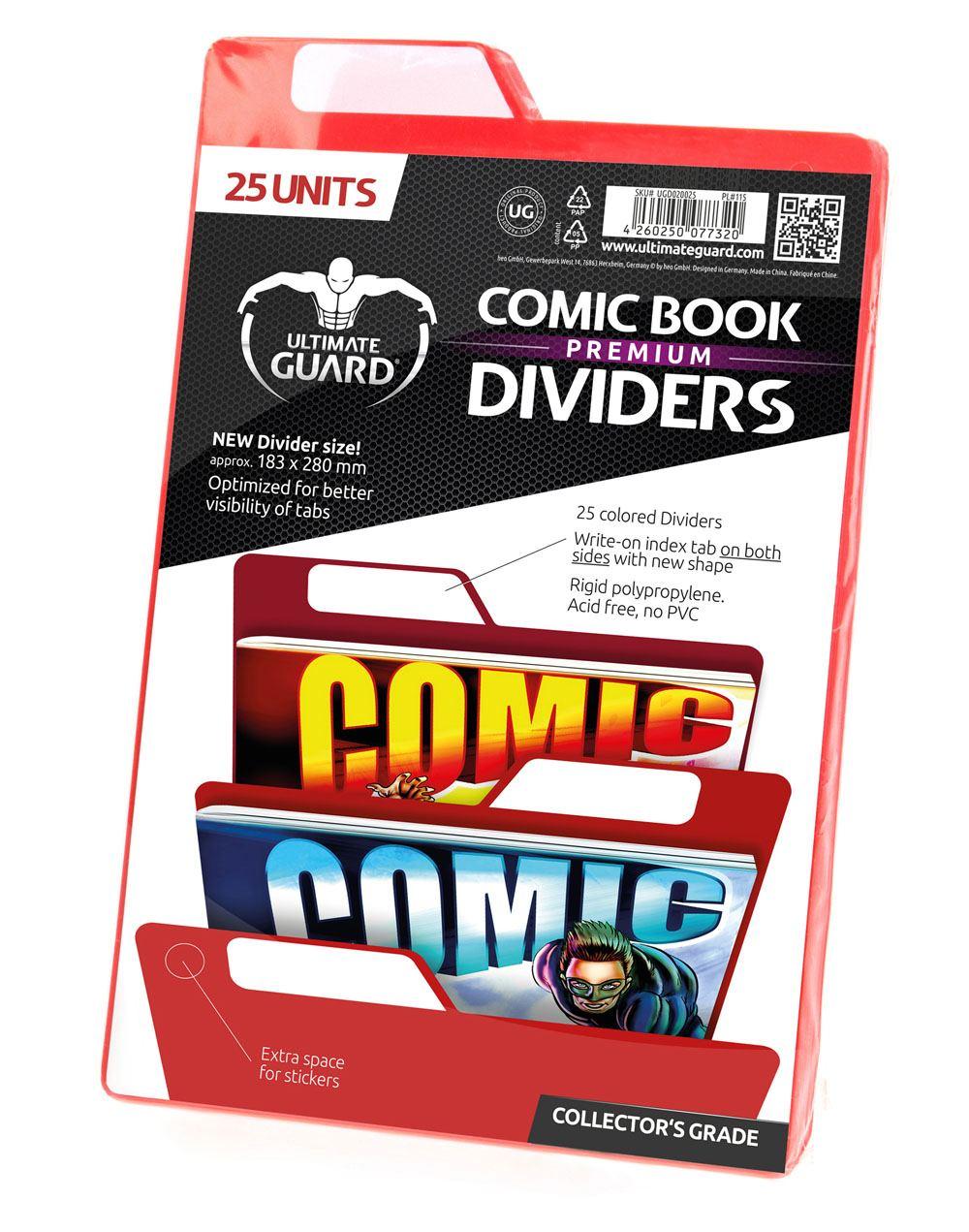 Ultimate Guard Premium Comic Book Dividers Red (25)