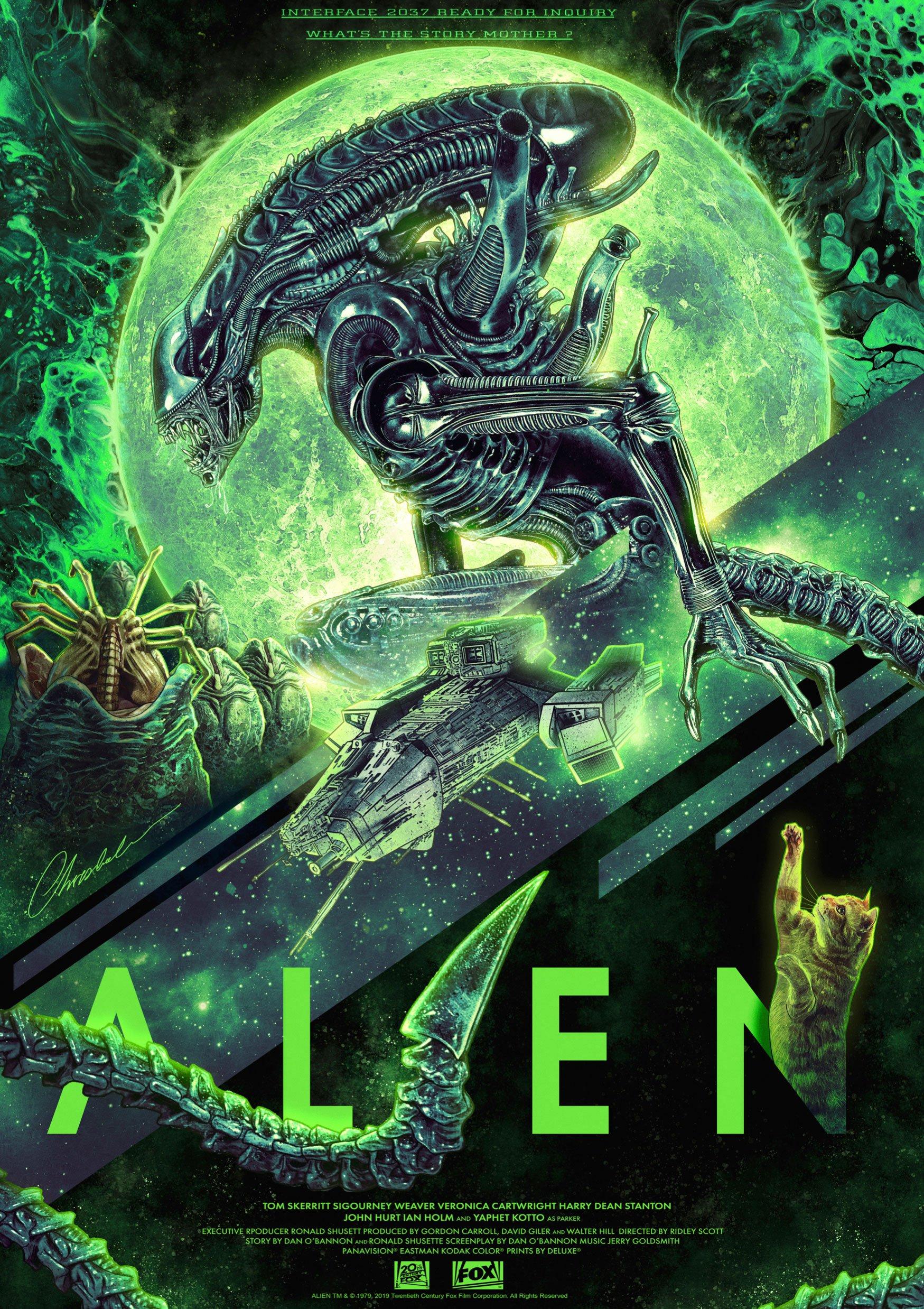 Alien Art Print Interface 2037 42 x 30 cm
