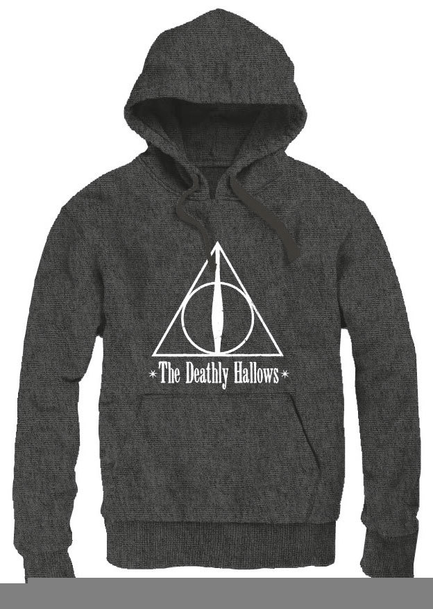 Harry Potter Hooded Sweater The Deathly Hallows Size L