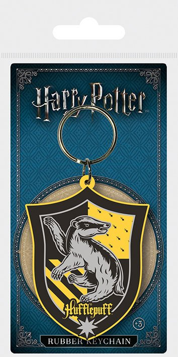 Harry Potter Rubber Keychain Hufflepuff 6 cm