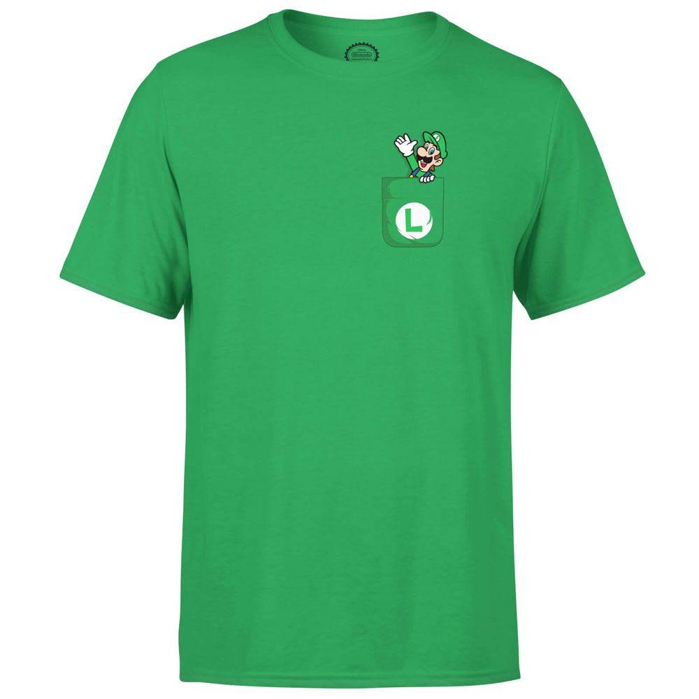 Nintendo T-Shirt Luigi Pocket Size XL