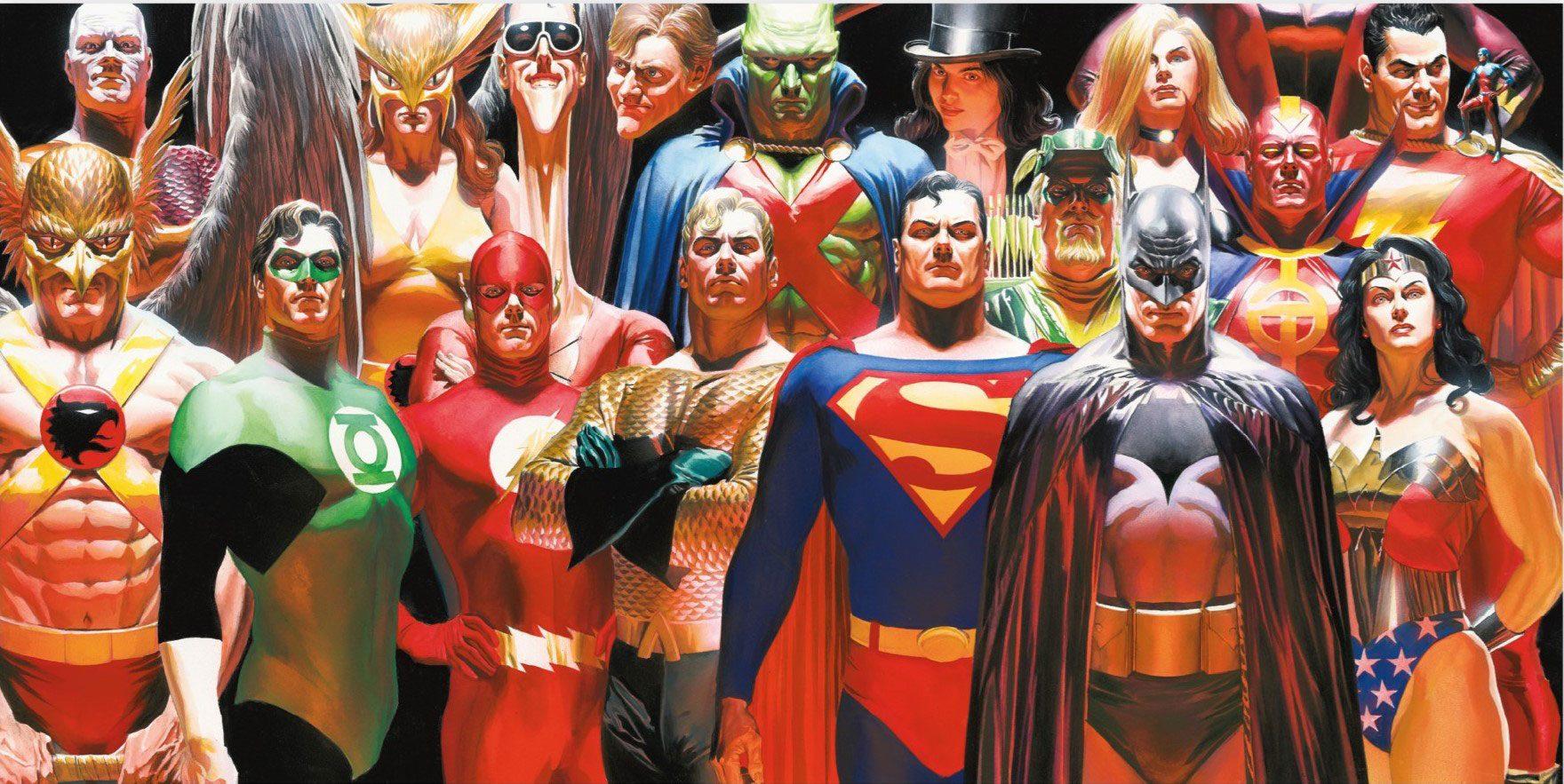 DC Comics Glass Poster Justice League 60 x 30 cm