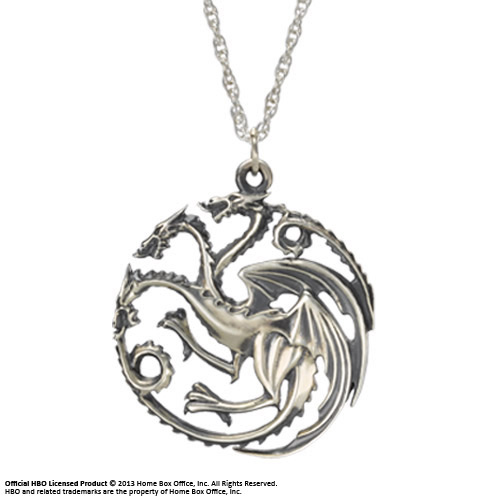 Game of Thrones Pendant & Necklace Targaryen Sigil (Sterling Silver)