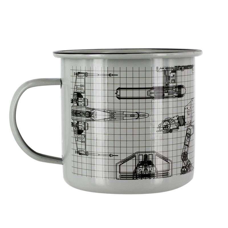 Star Wars Enamel Mug Spaceships
