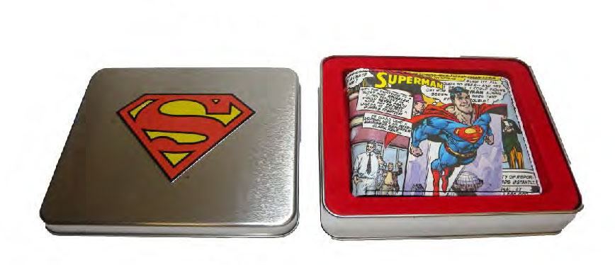 DC Comics Wallet in a Tin Flying Superman