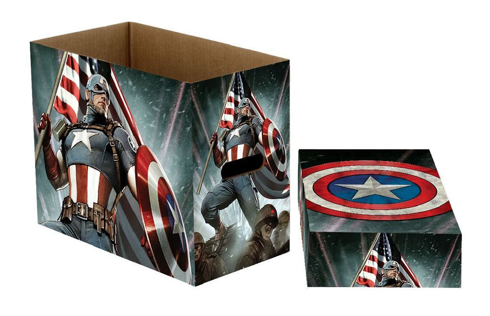 Marvel Comics Storage Boxes Captain America Stars 23 x 29 x 39 cm Case (5)