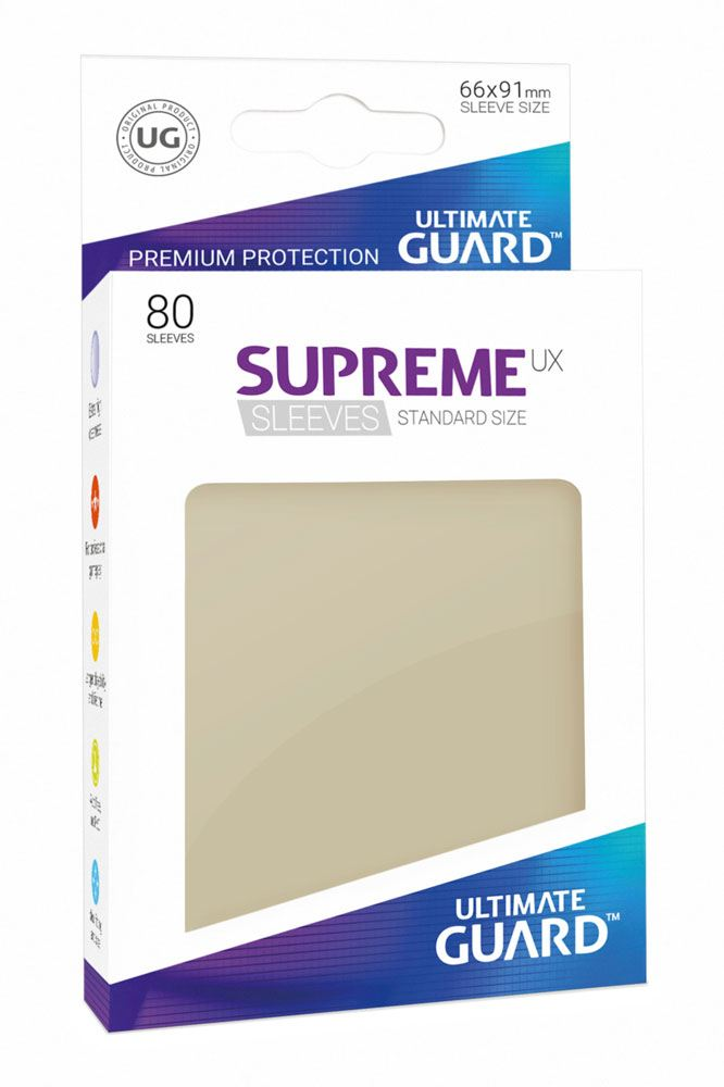 Ultimate Guard Supreme UX Sleeves Standard Size Sand (80)