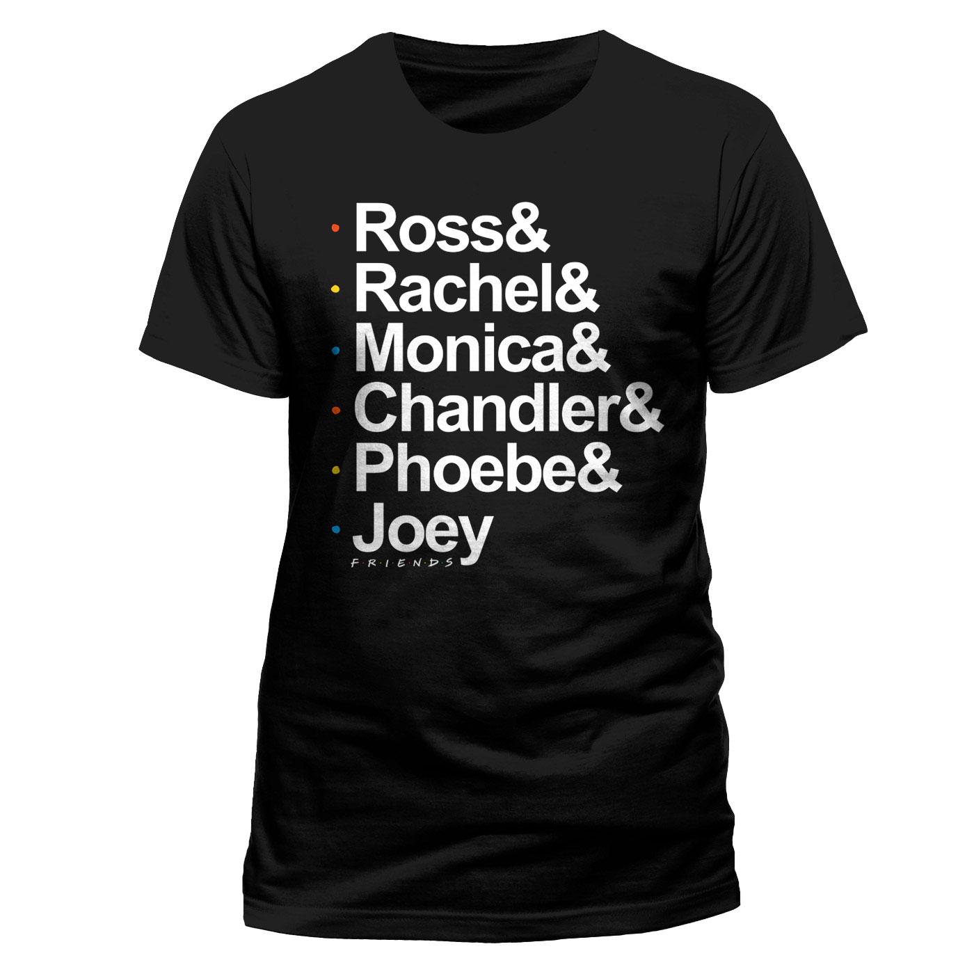 Friends T-Shirt Names Size M