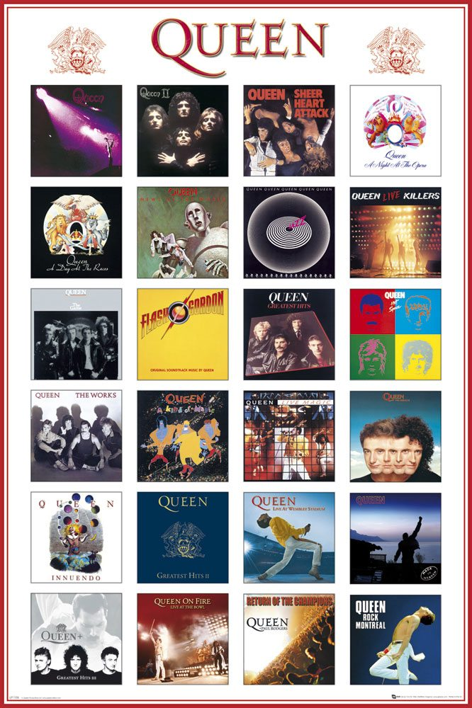 Queen Poster Pack Covers 61 x 91 cm (5)