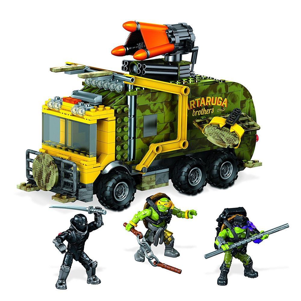 Teenage Mutant Ninja Turtles Mega Bloks Construction Set Battle Truck