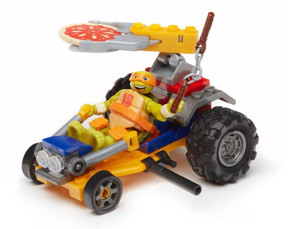 Teenage Mutant Ninja Turtles Mega Bloks Construction Set Mikey Pizza Racer