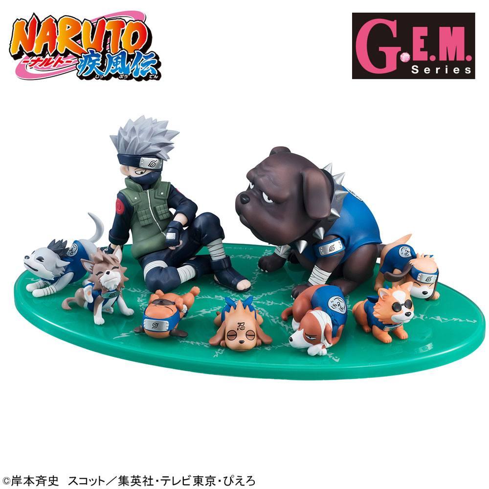 Naruto G.E.M. Series PVC Statue Kakashi & Ninken Ninja Dog Set