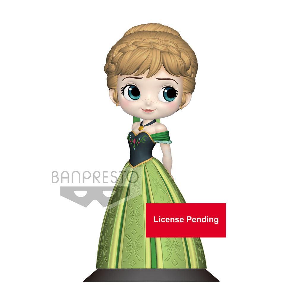Disney Q Posket Mini Figure Anna Coronation Style B Pastel Color Version 14 cm