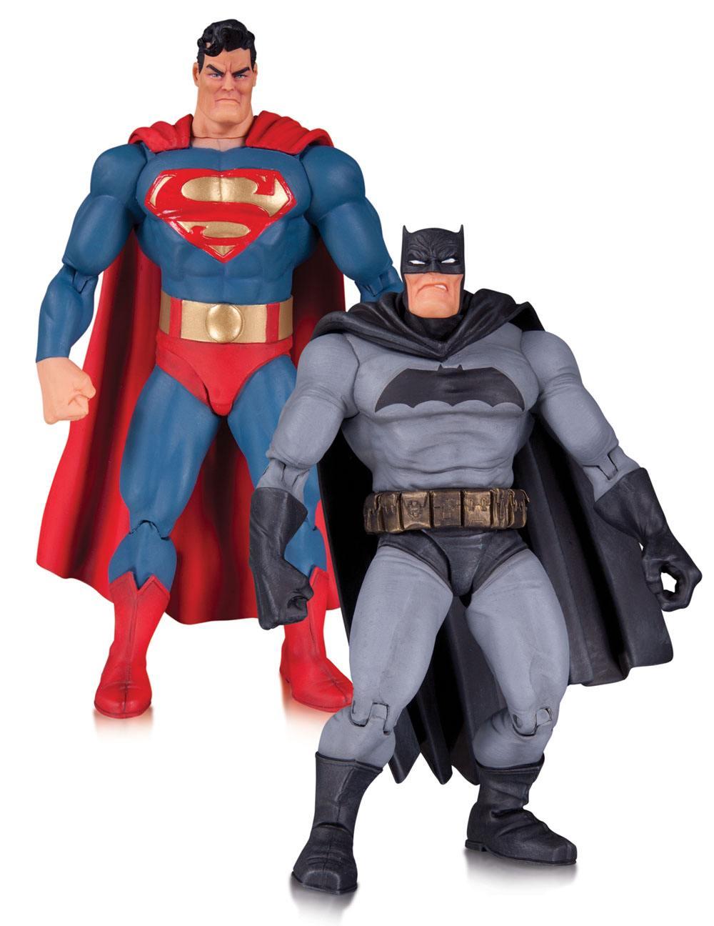 The Dark Knight Returns Action Figure 2-Pack Superman & Batman 30th Anniversary 17 cm