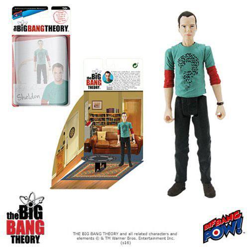 The Big Bang Theory Action Figures with Diorama Set Sheldon Riddler Shirt 10 cm