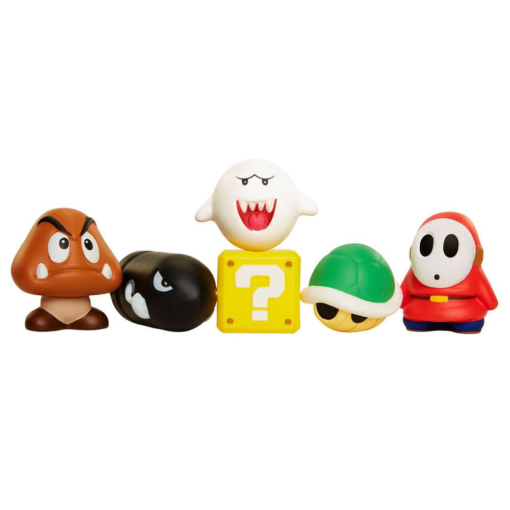 Super Mario Squish-Dee-Lish Stress Figures Blind Bags Series 1 Display (12)