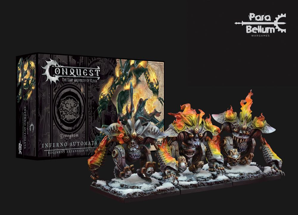 Conquest: The Last Argument of Kings Miniatures 3-Pack Dweghom: Inferno Automata