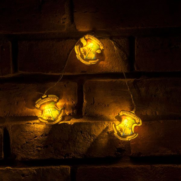 Harry Potter String Lights Hogwarts Crests