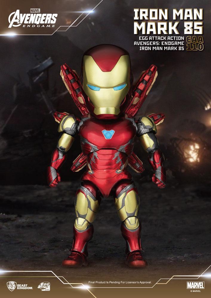 Avengers: Endgame Egg Attack Action Figure Iron Man Mark 85 16 cm