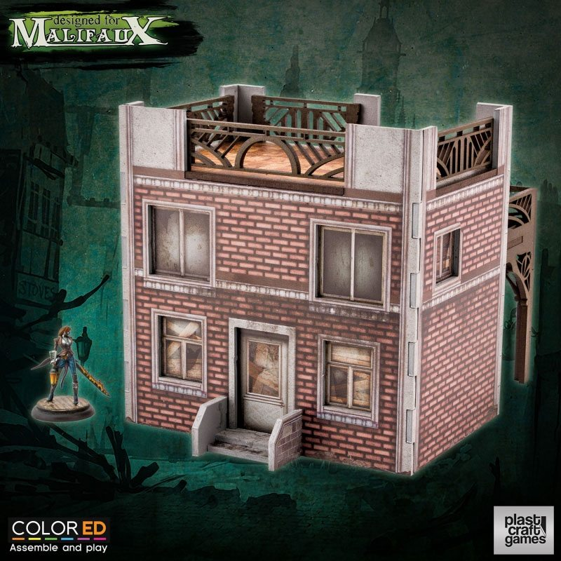 Malifaux ColorED Miniature Gaming Model Kit 32 mm Old Town Building