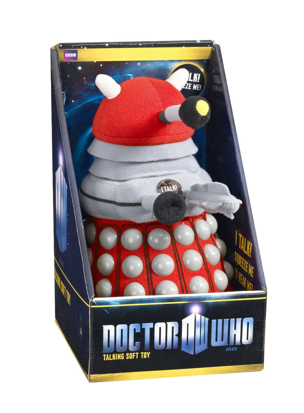 Doctor Who Plush Figure with Sound Red Dalek 23 cm