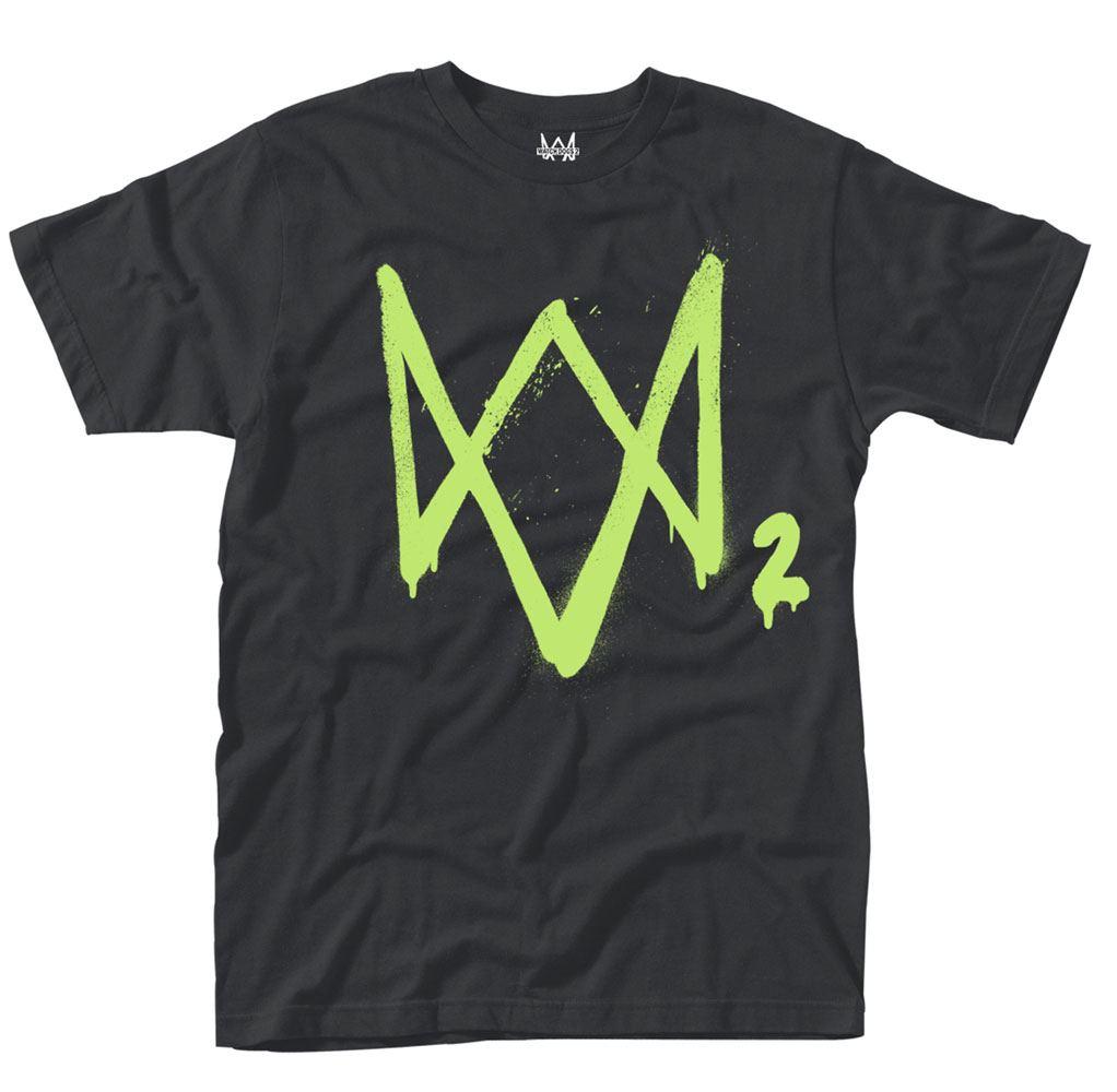 Watch Dogs 2 T-Shirt Neon Logo Size M