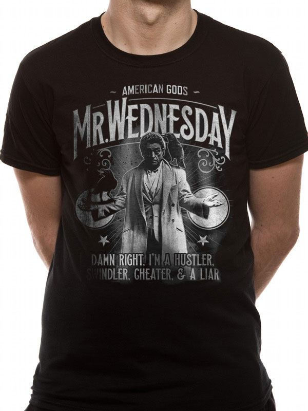 American Gods T-Shirt Mr. Wednesday Size L