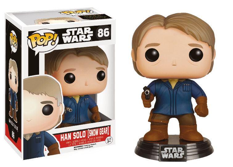 Star Wars Episode VII POP! Vinyl Bobble-Head Han Solo (Snow Gear) LC Exclusive 9 cm